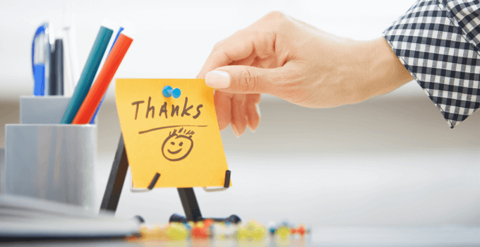 Thank you notes to improve employee engagement