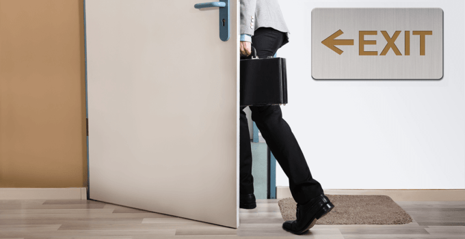 Alternative Ways to Reduce Employee Turnover - Businessperson Walking Out